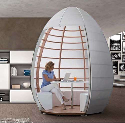 Portable work spaces pop up work spaces office pods for Mobile furniture design