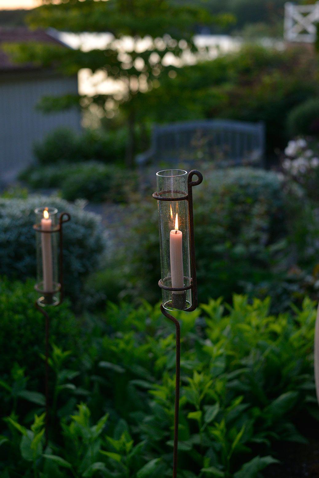 Ljus i trädgården och växthuset zetas trädgård uteplats