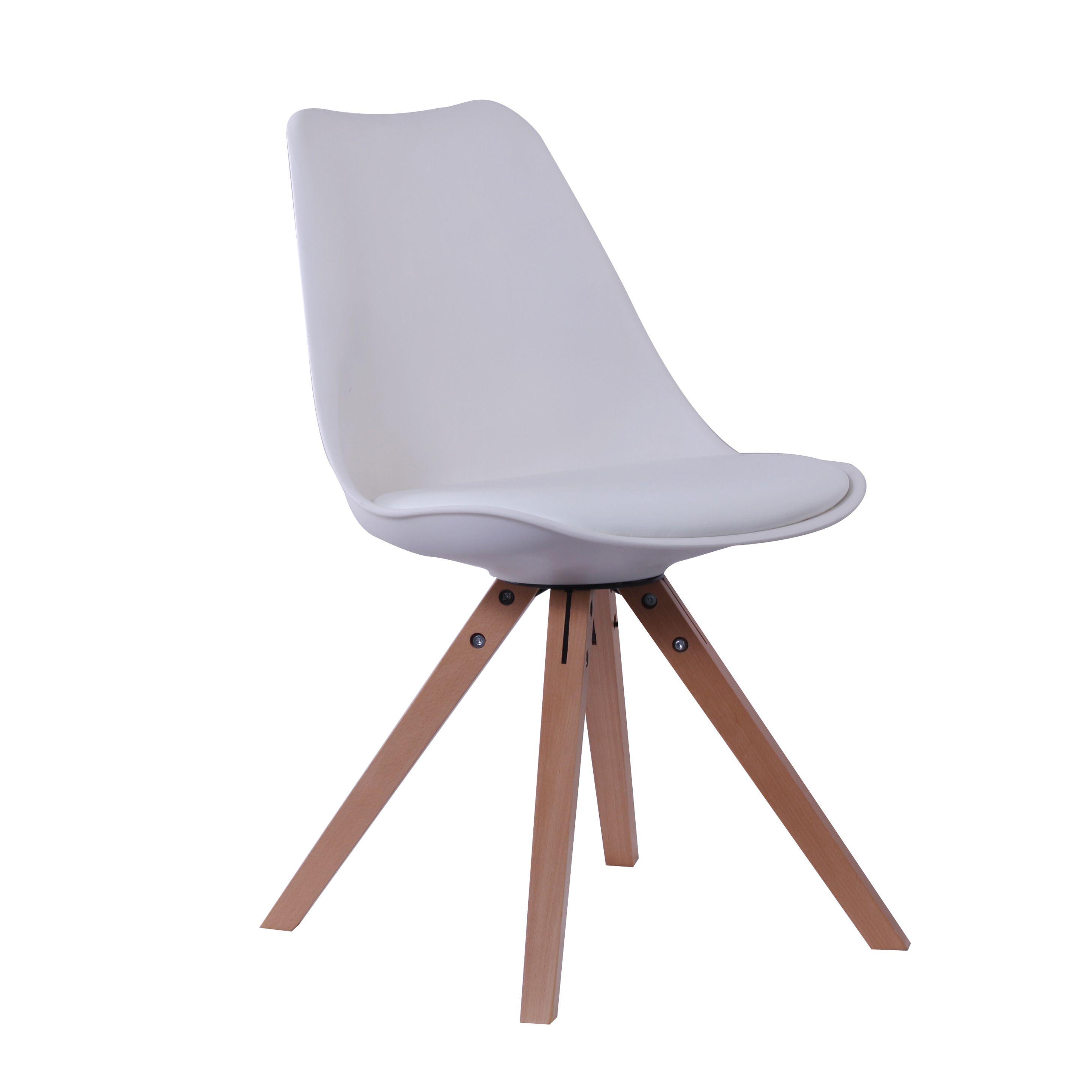 Silla nórdica con patas de madera #silla #salon #casa #versa | White ...