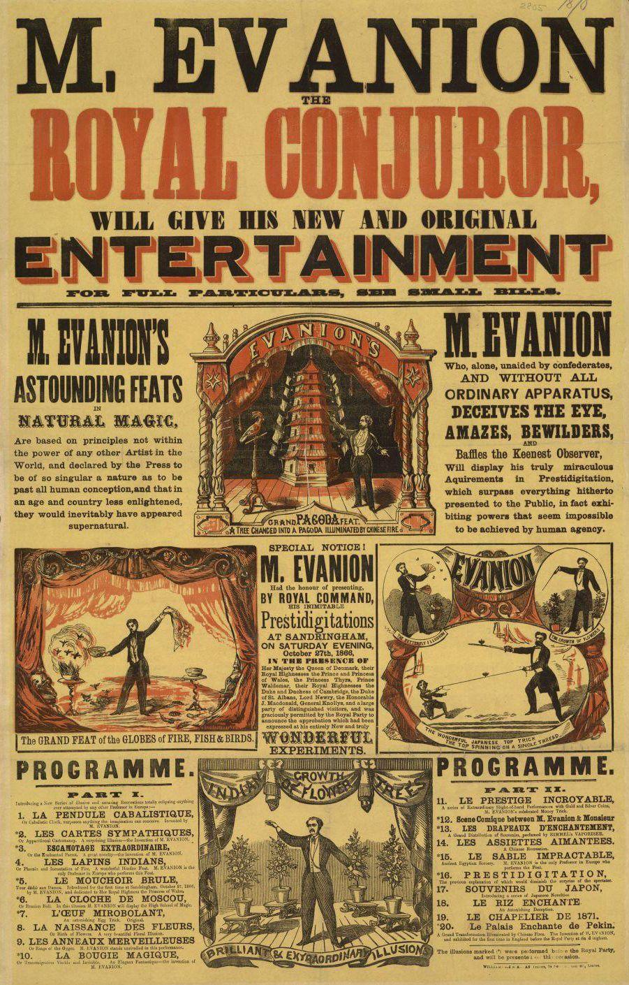 Evanion S New Entertainment 1870 Circus Poster Vintage Circus