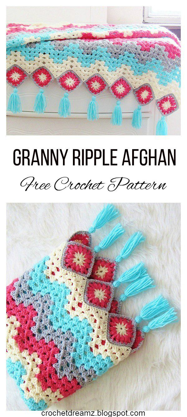 How to Crochet a Ripple Afghan, Free Crochet Pattern, Sun Room ...