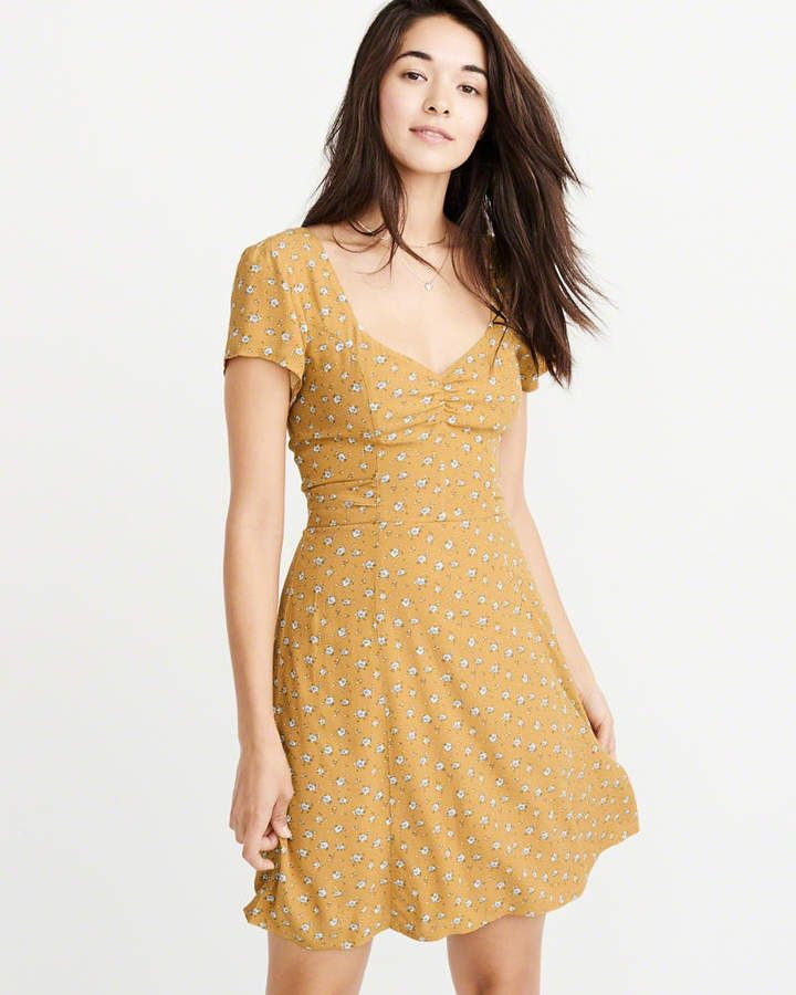 88717dee5bb Abercrombie   Fitch Bow-Back Skater Dress