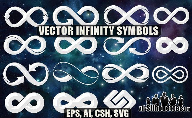 Vector Infinity Symbols Photoshop Freebies Pinterest Infinity