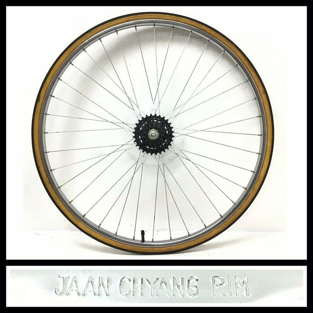 Vintage Chyang 27 X 1 1 4 Rear Bicycle Wheel 6 Freewheel Tire Road Bike 934 Jaanchyangrim In 2020 Bicycle Wheel Road Bike Bike