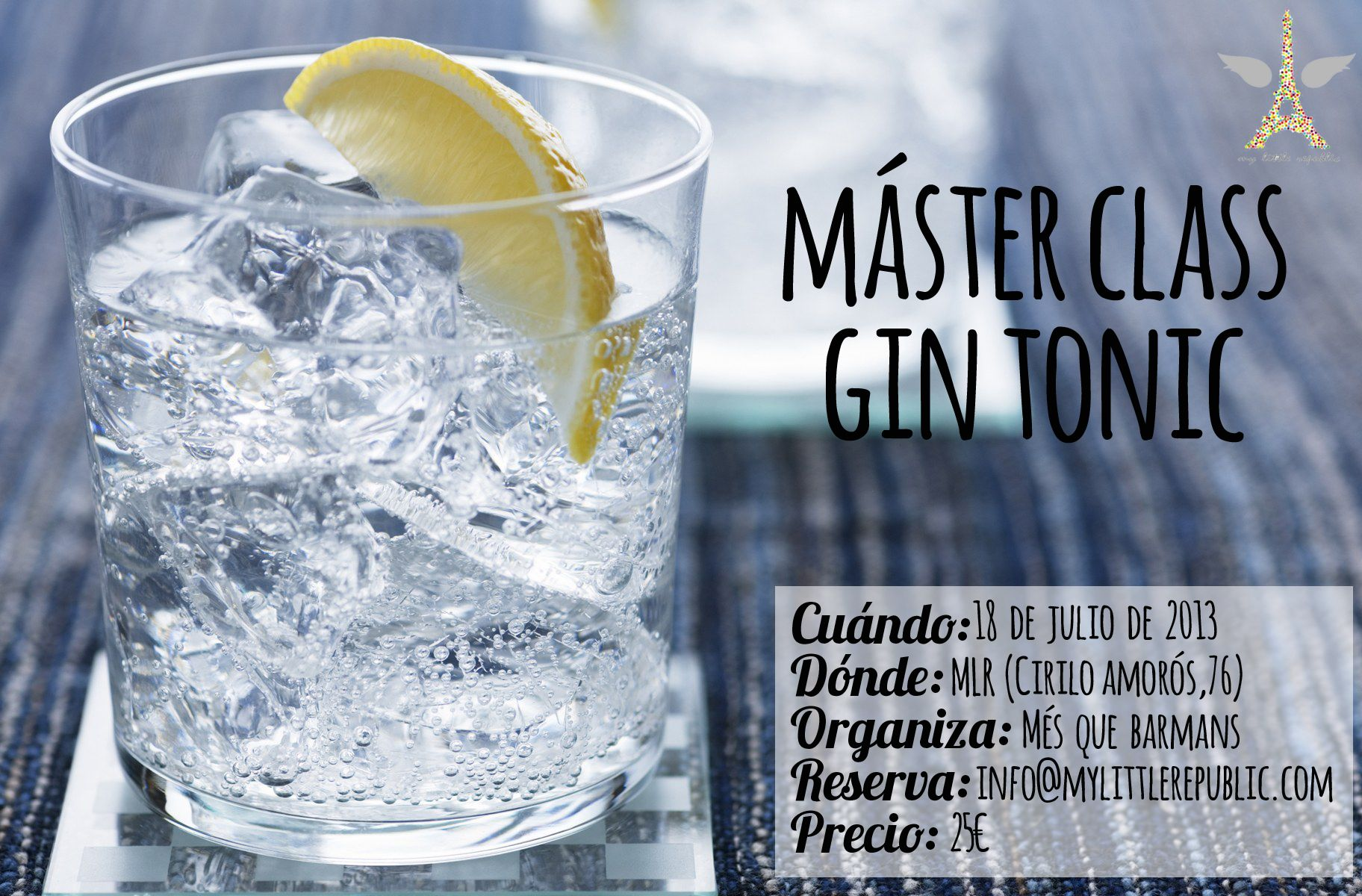 Máster Class Gin Tonic 18 de Julio de 2013