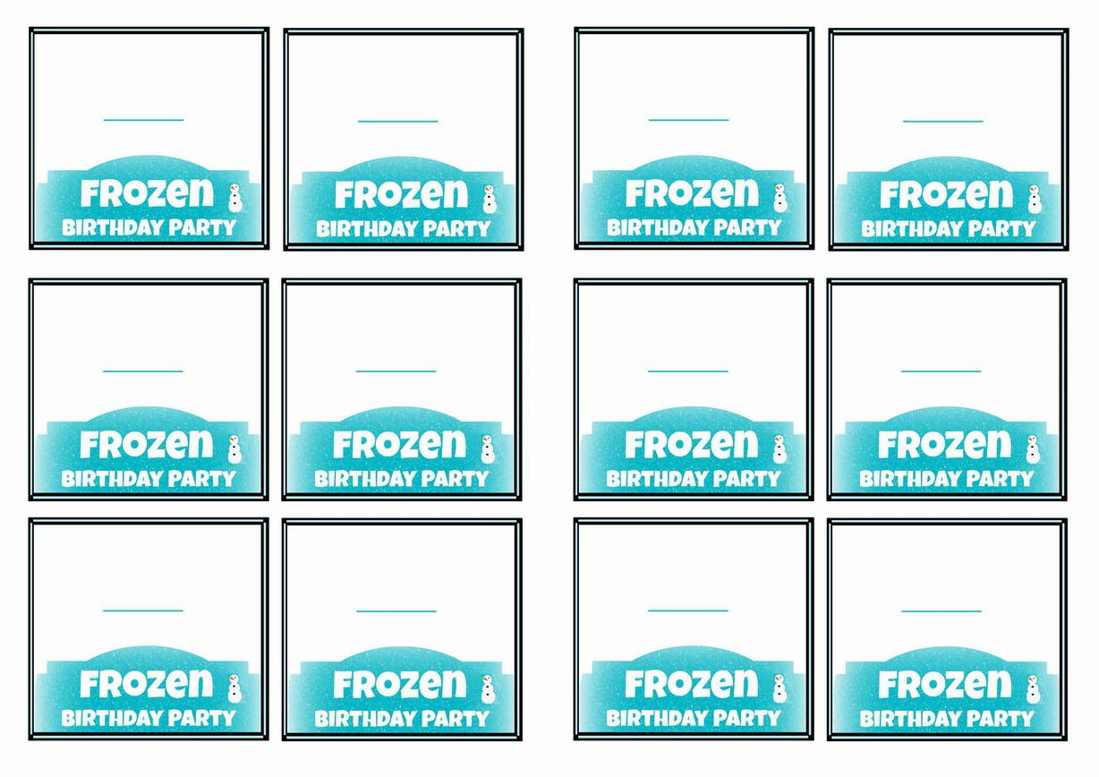 Free Printable Frozen Movie Themed Name Tags