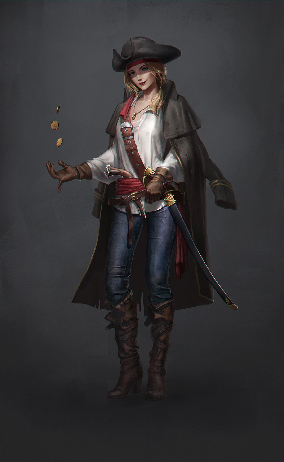 Pirate Eryc Tsang Artstation. Characters Rangers Rogues And Monks In 2019