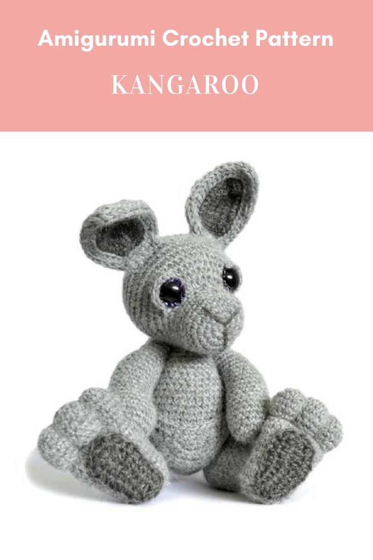 Kangaroo Amigurumi Crochet Pattern PDF Instant Download - Evie ...
