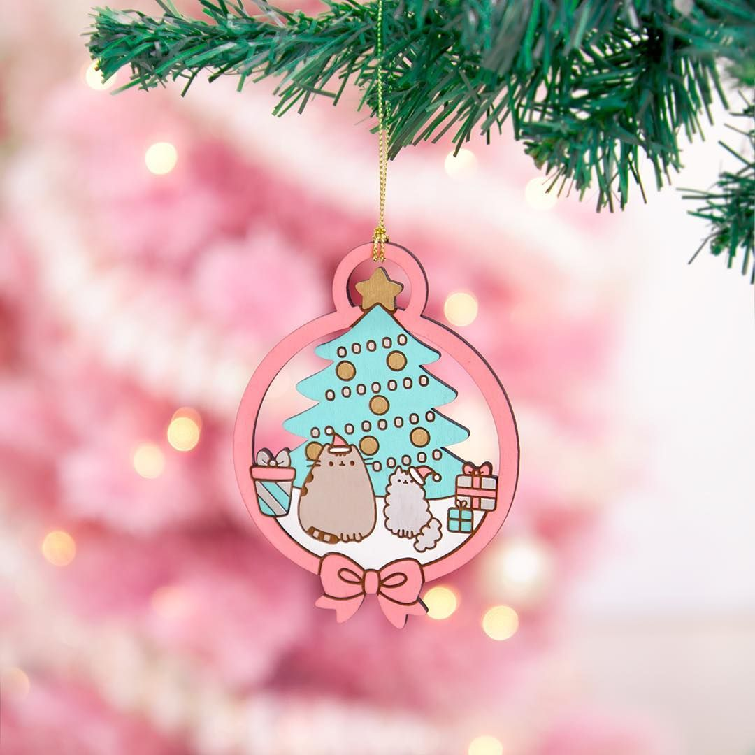 This Limited Edition Of 300 Pusheen Ornaments Are Now In Stock At These  Beautiful Wooden Ornaments Are Lasercut And Handpainted In The Usa