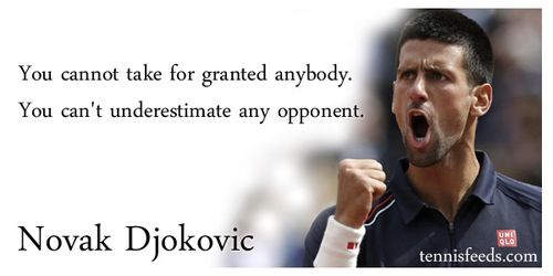 Words Of Wisdom From Novak Djokovic Tennis Quotes Tennis Workout Atp Tennis