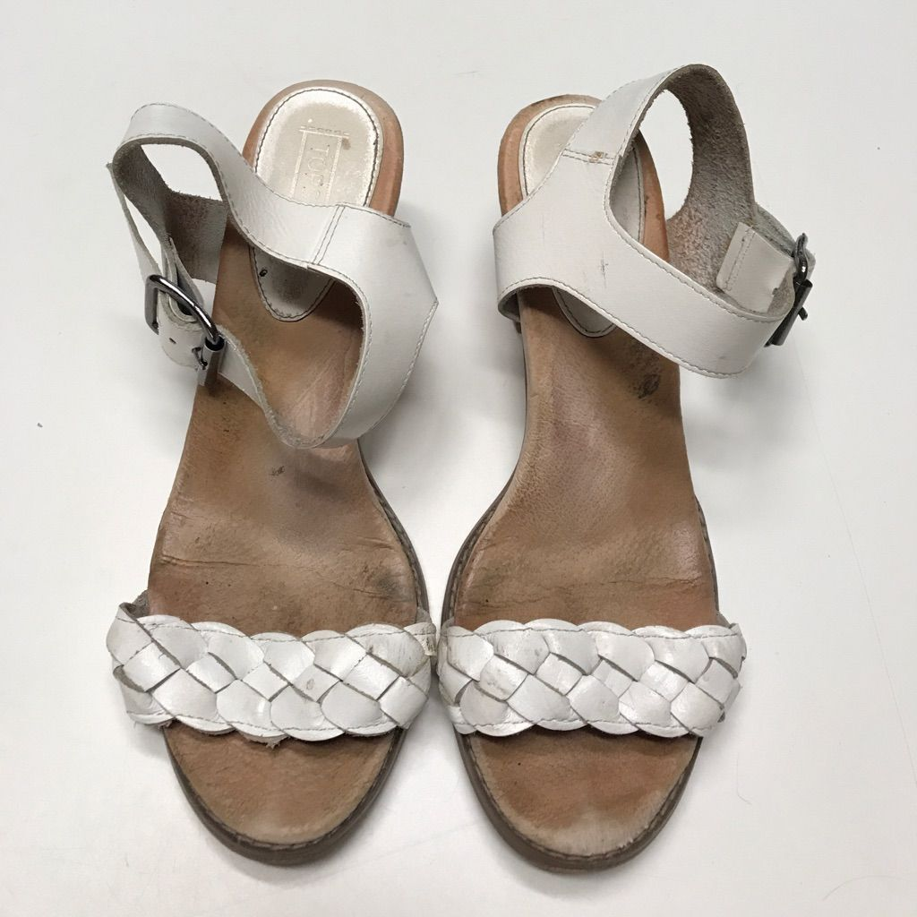 Top Shop Braided Leather Heeled Sandals