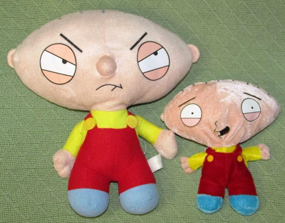 "Family Guy STEWIE Plush Set 11"" & 8"" Nanco Griffin Stuffed Doll TV Cartoon…"