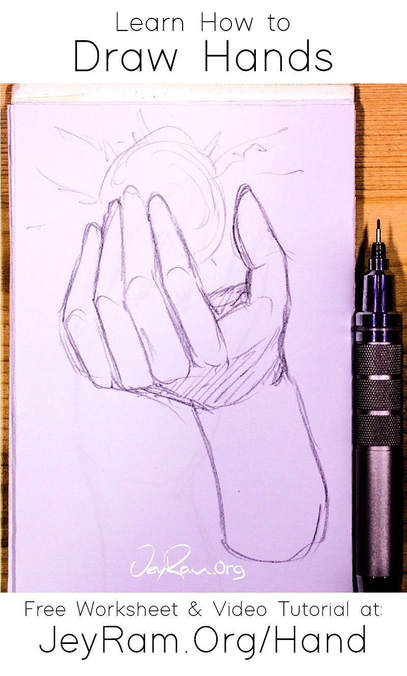 Learn How To Draw Hands Step By Step Tutorial In 2020 How To Draw Hands Learn To Draw Drawings