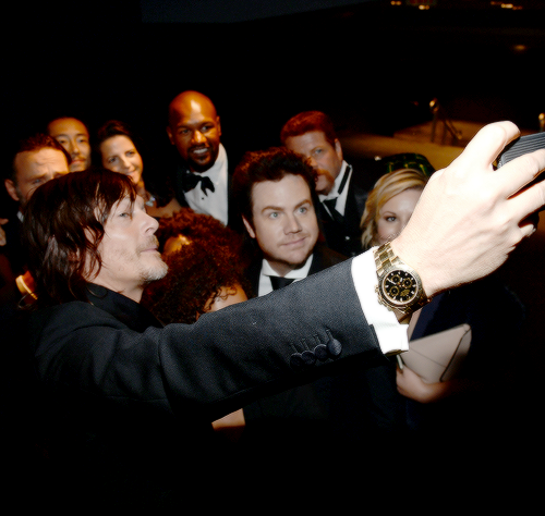 Norman Reedus attends AMC's 'The Walking Dead' season 6 fan premiere event at Madison Square Garden on October 9, 2015