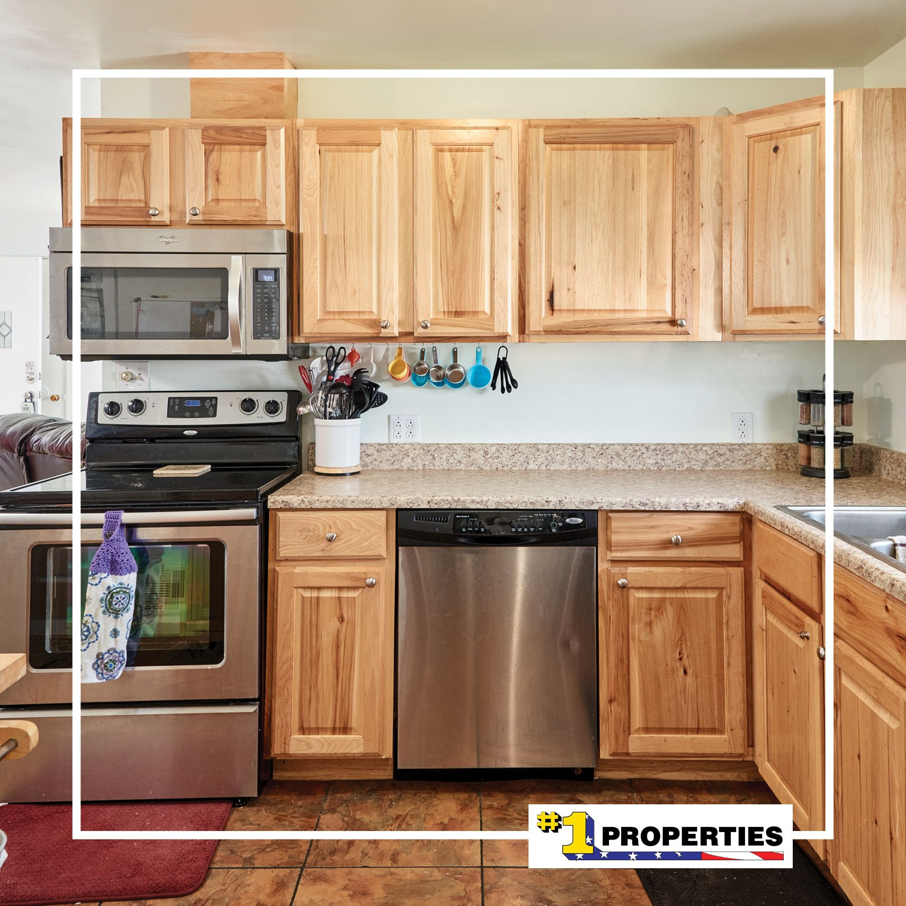 Beautiful Hickory Cabinets 4772 Hilltop Avenue Cheyenne Wyoming Cheyennehomes Realestate Househunting Realty In 2020 Hickory Cabinets Dream Kitchen Real Estate