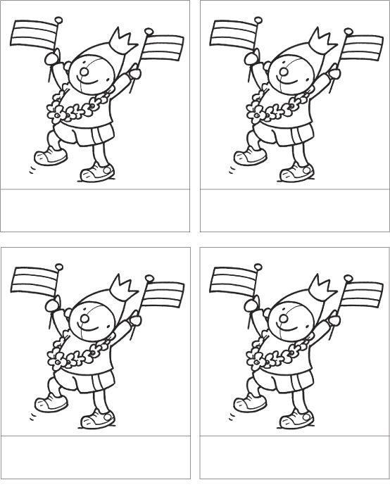Kleurplaten Koningsdag Peuters.Kleurplaat Pompom Koningsdag Koningsdag School Diy For Kids En