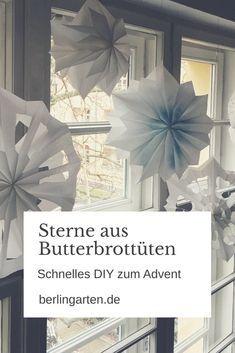 Anleitung für Sterne aus Butterbrottüten - superschnelles DIY