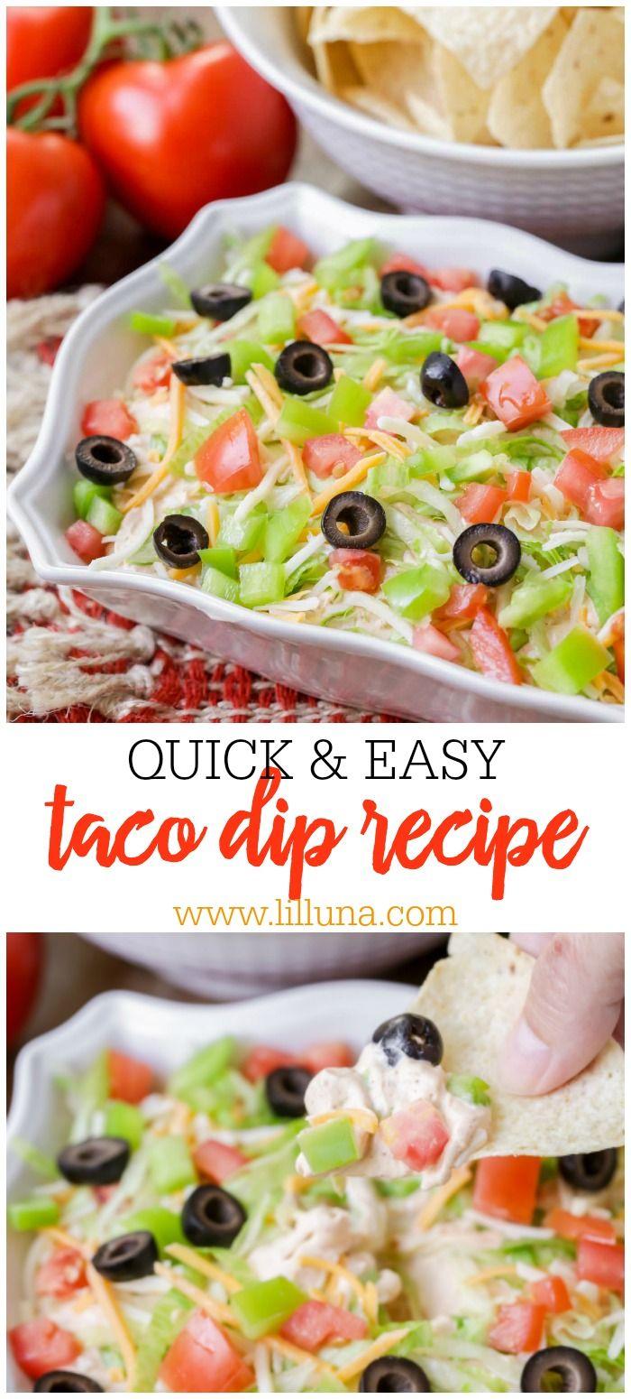 5-Minute Taco Dip Recipe   Lil' Luna