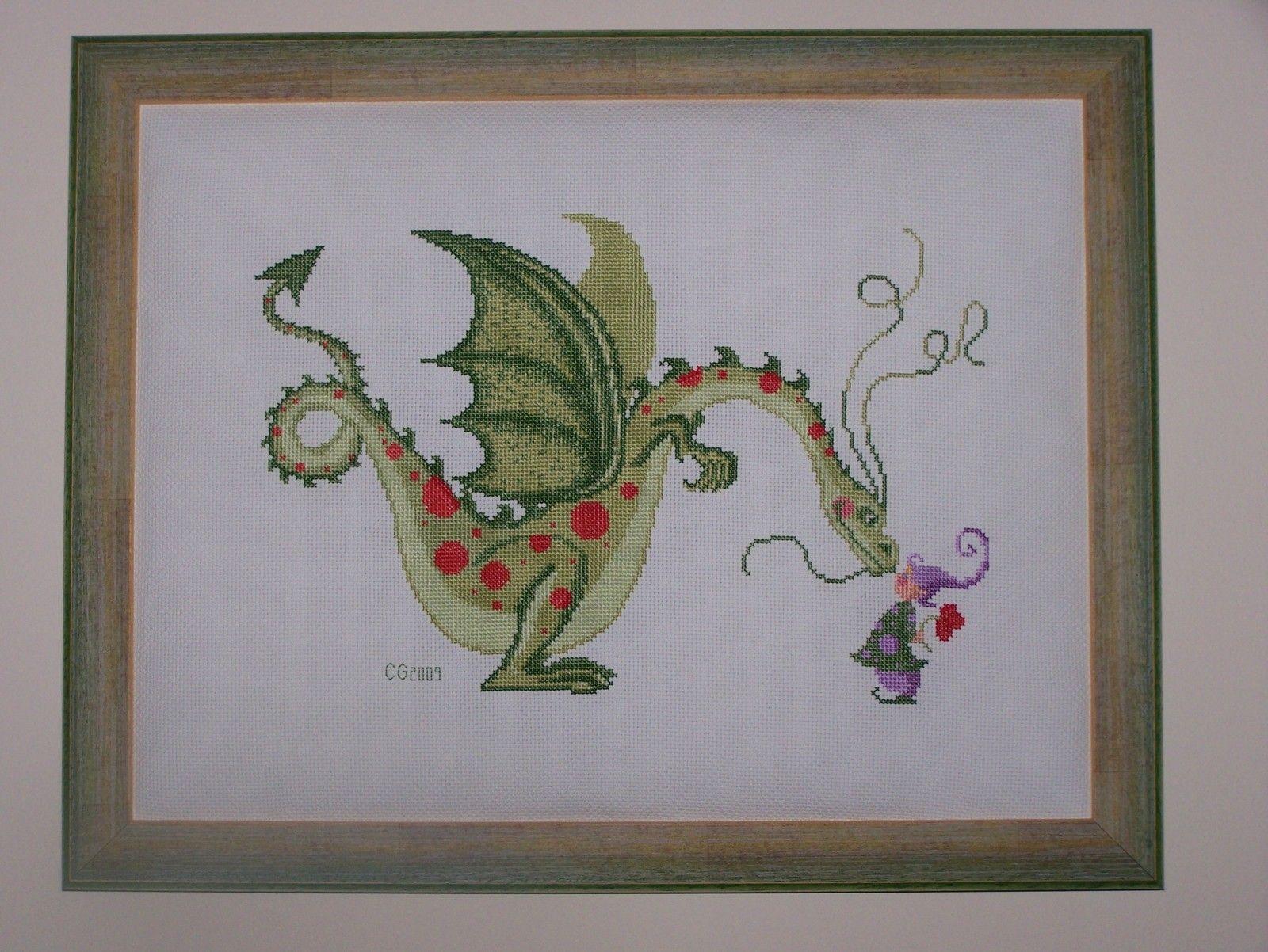 Réalisé : le dragon de Sylvie Teytaud, pour Florian - Cécile brode