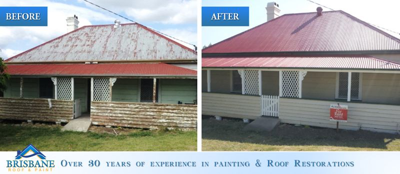 Brisbane Roof And Paint Before And After Roof Restoration And Exterior Painting Roof Restoration Roof Paint Exterior Paint