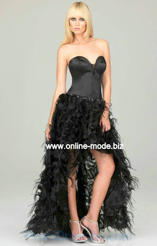 Schwarzes kleid hinten lang