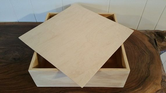 Box With Lid 12 X 12 X 4 Wooden Pine Box Memorial Etsy Box With Lid Handmade Box Memorial Keepsakes