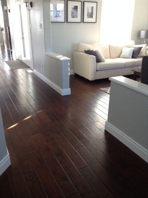Lovely Hardwood Flooring for Basement