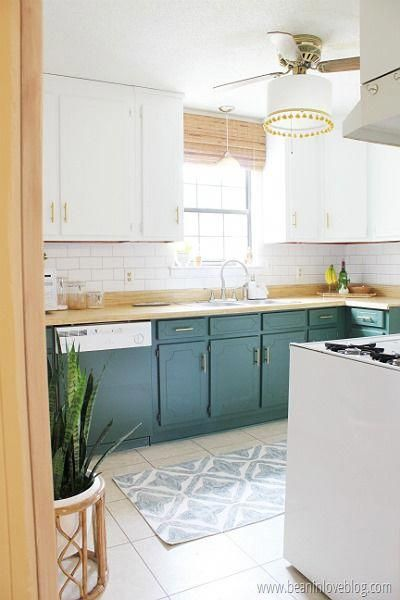 The Big (Little) Kitchen Reveal! Bamboo shade hung above ...