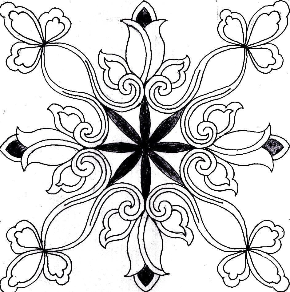 Sketsa Corak Batik Bunga Di 2020