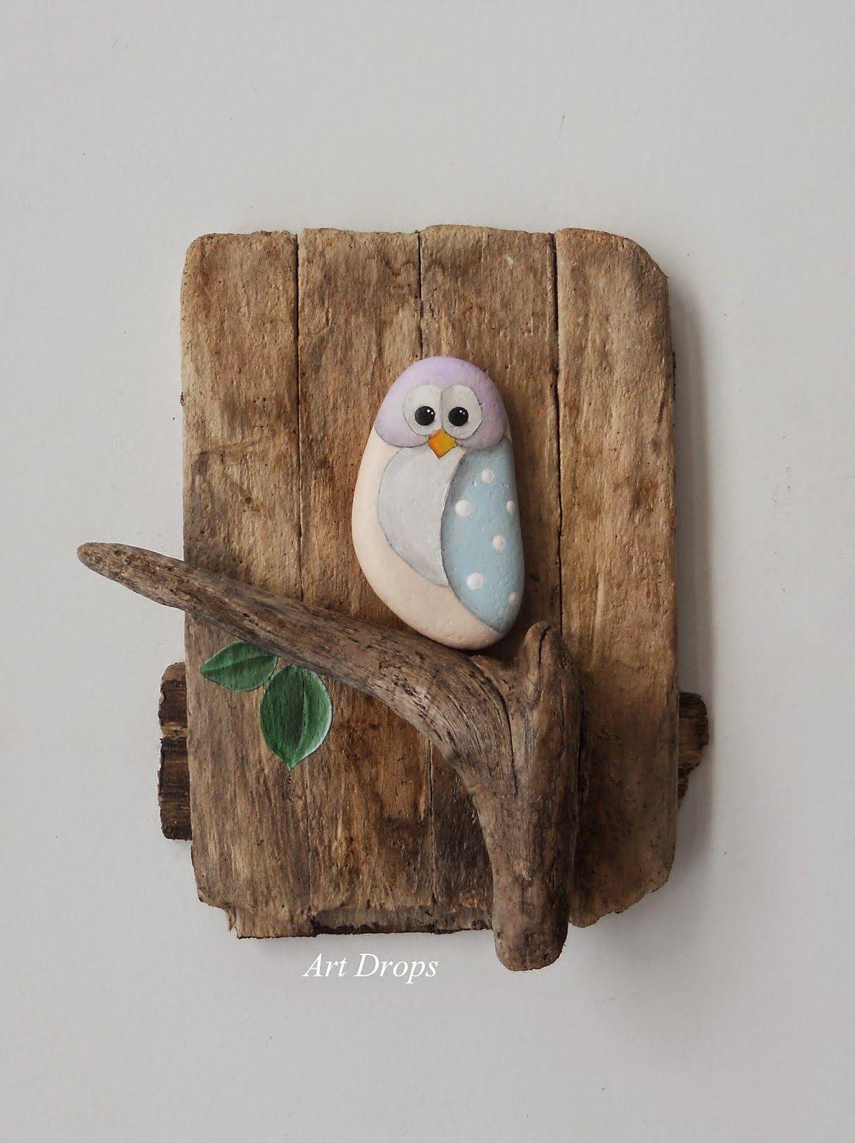 Art Drops: Oslikani predmeti - DRVO - love the art dirft wood items are great