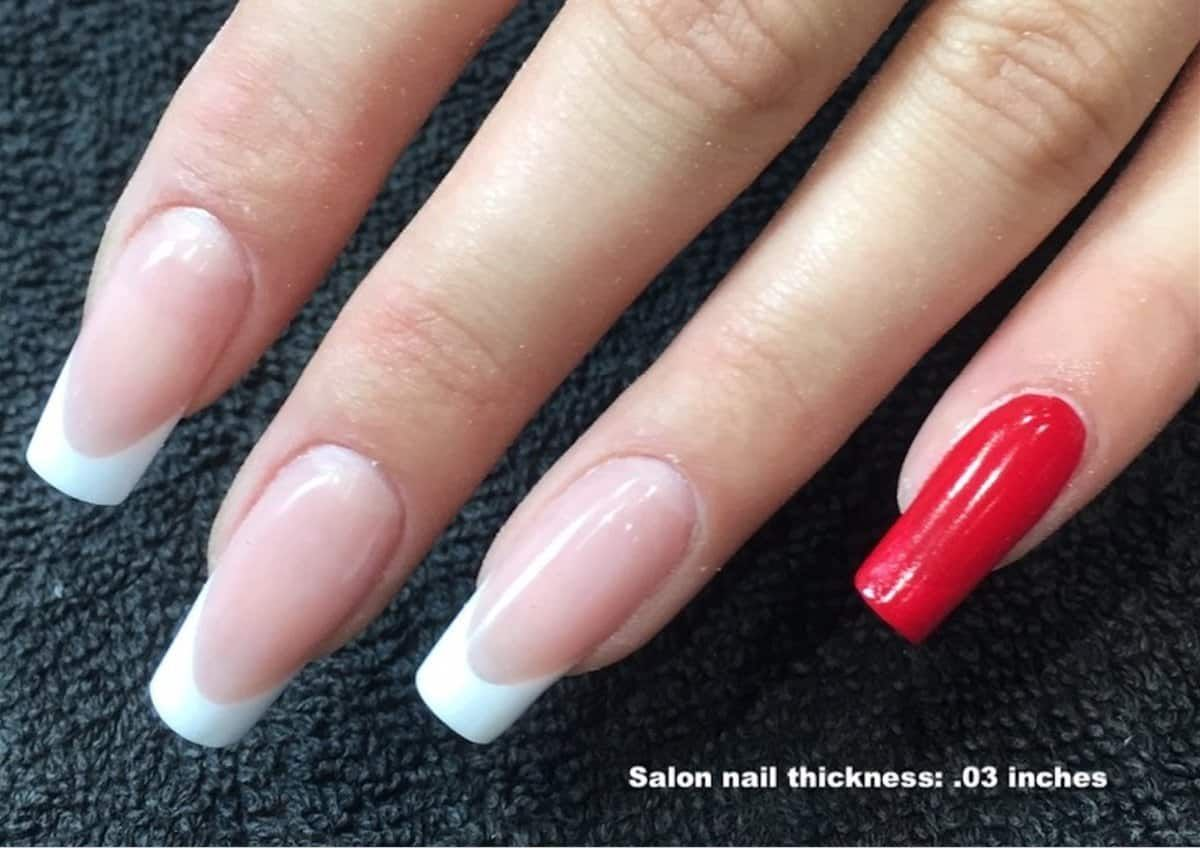 Tips On Deciding On The Appropriate Thickness For Nail Enhancements Remove Acrylic Nails Hard Gel Nails Acrylic Nail Powder