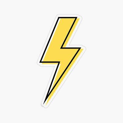 Yellow Flash, Laptop Sticker Bottle Macbook Decal Style 268036
