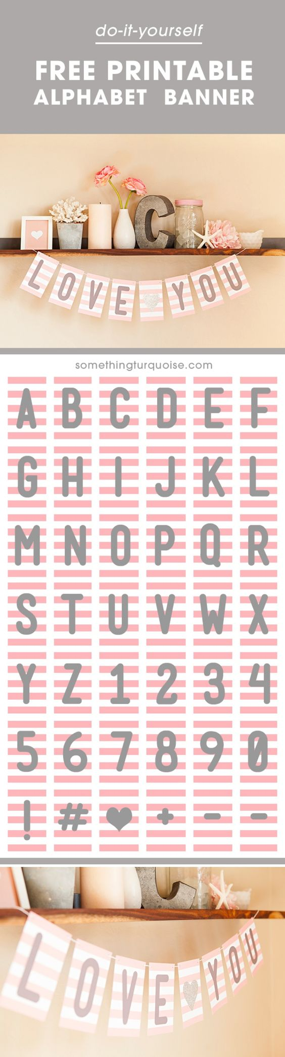 Adorable FREE Printable Alphabet Banner, You Can Make It Say Anything You  Want! #craftywithcanon