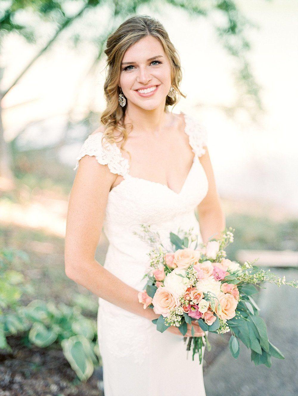 Essense wedding dress  Norris Lake Wedding  Amber  Nathan  Lakes Amber and Wedding dress