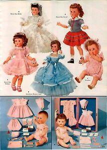 1957-PAPER-AD-4-PG-American-Character-Horsman-Dolls-Sweet-Sue-Walking-Bride-Doll