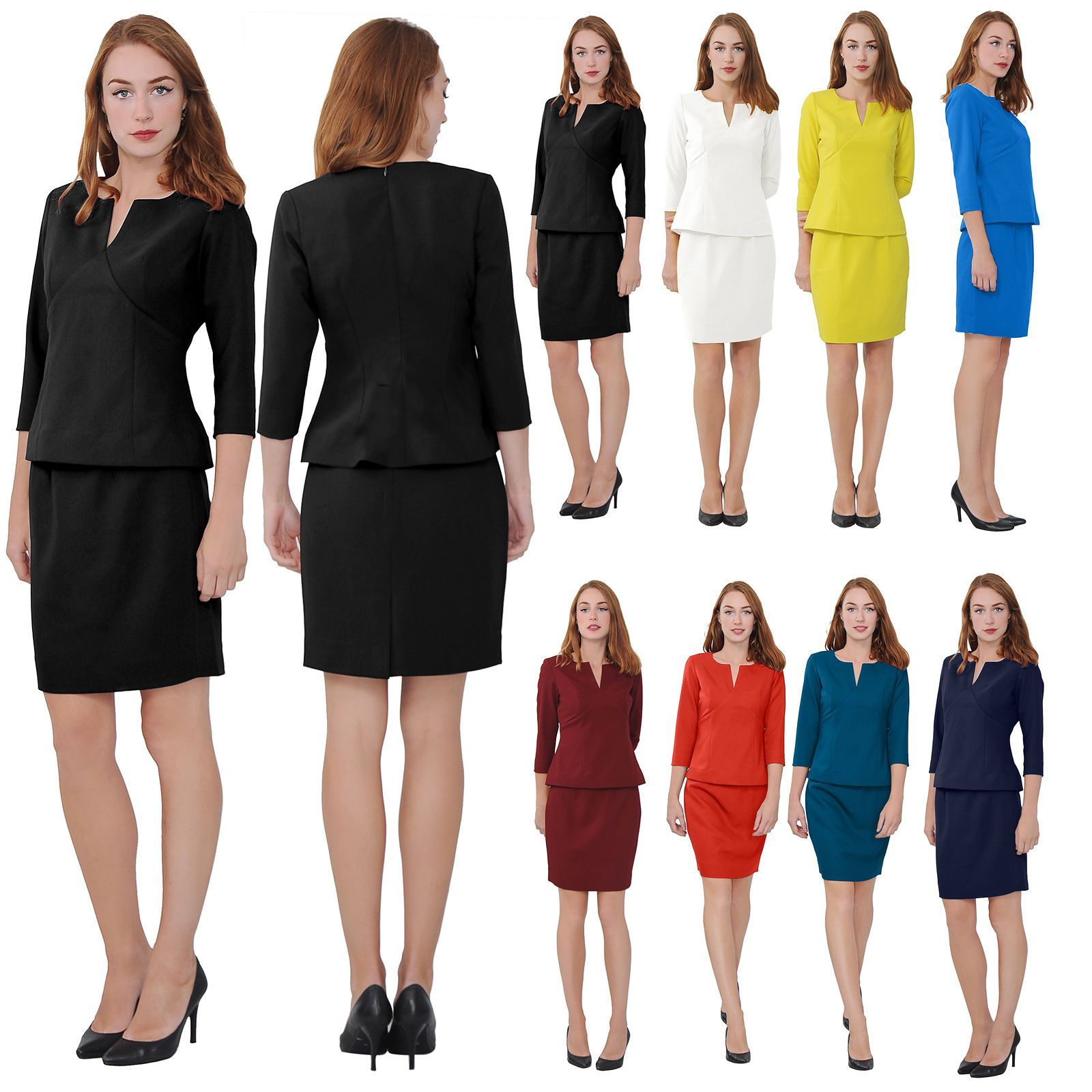 f342f0637 Marycrafts Women'S Elegant Skirt Suit Set Work Office Business Wear Skirt  Suits