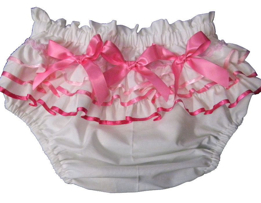 B6 Baby Pink Satin silky Handmade Shiny  ruffle Thong Sissy bikini panties L//XL