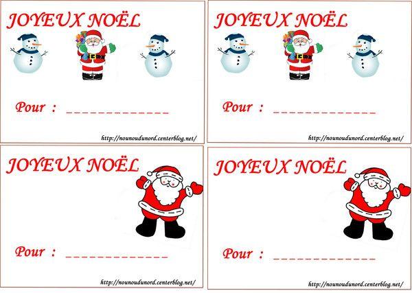 Bien connu J'ai réalisé des étiquettes pour vos cadeaux de Noël, plein d  ZA57