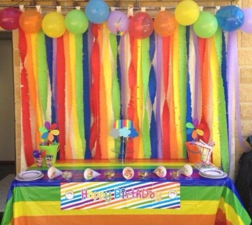 Rainbow Birthday Party Decorations kidspartyideas Rainbow party