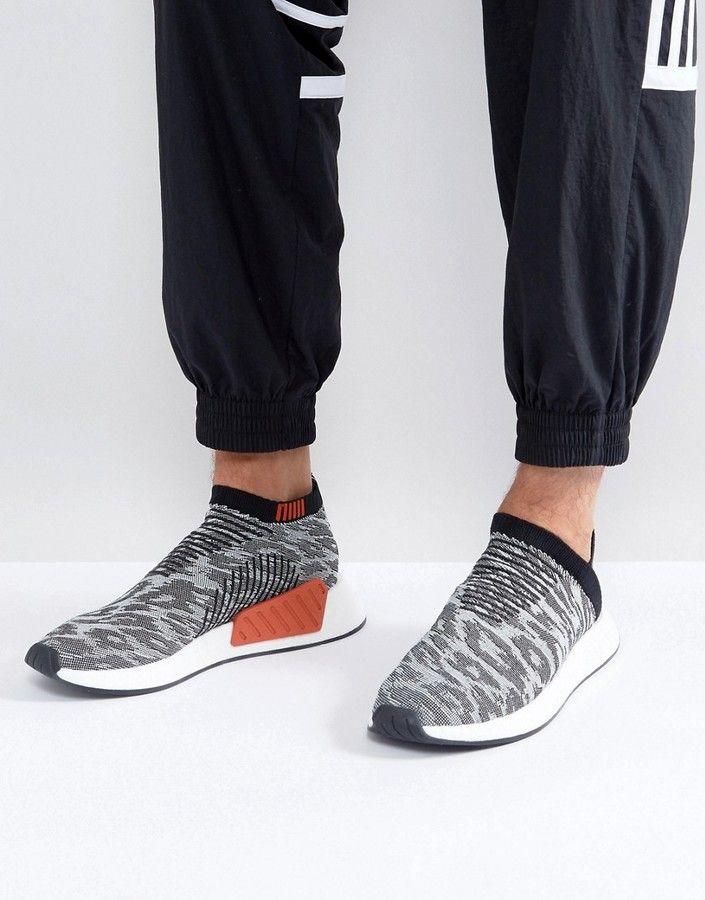 adidas originali nmd cs2 primeknit scarpe nere bz0515
