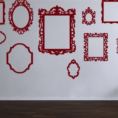 The Decal Guru Antique Picture Frames Wall Decal Color: Burgundy