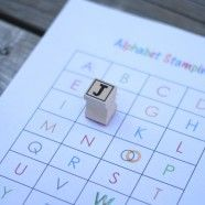 Free printable alphabet stamping sheets and activities.