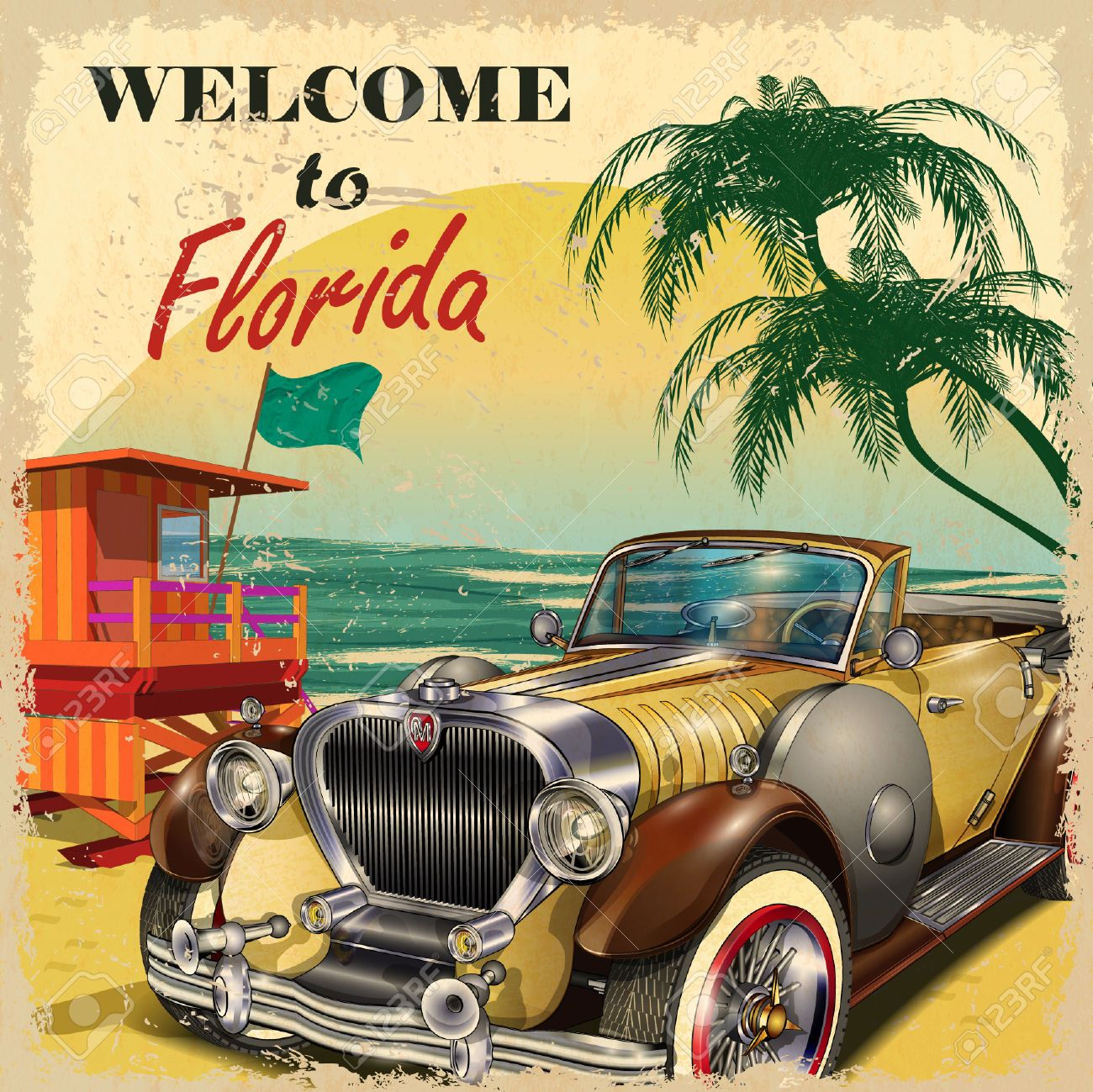 52512513-Welcome-to-Florida-retro-poster--Stock-Vector-vintage.jpg ...