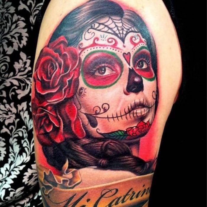 tatouage t te de mort mexicaine qui vivra calavera. Black Bedroom Furniture Sets. Home Design Ideas