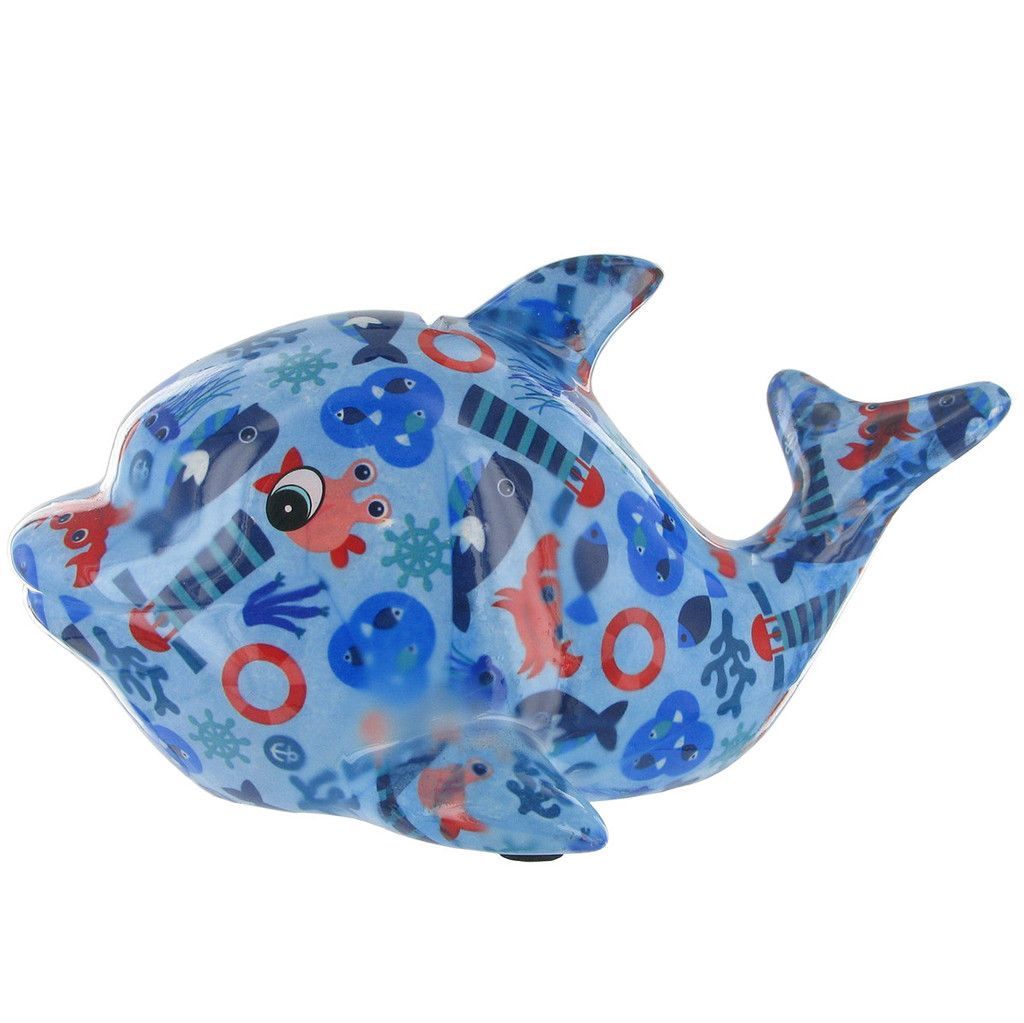 Animal Coin Banks Pomme Pidou Twisty The Dolphin Animal Money Bank Light