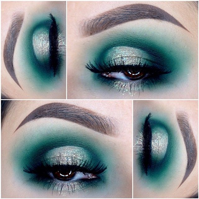 Half Cut Crease Half Smokey Eye Teal Green Spotlight
