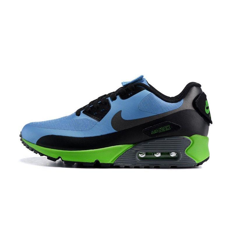 los angeles f1651 d76f1 Nike Air Max 90 V SP Patch Men Running Shoes-Sky Blue/Black-Grey-Volt