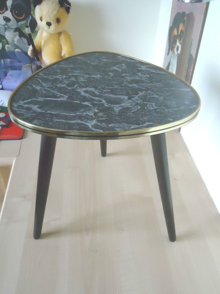 Vintage German 1950s Small Formica Top Coffee Side Table Retro