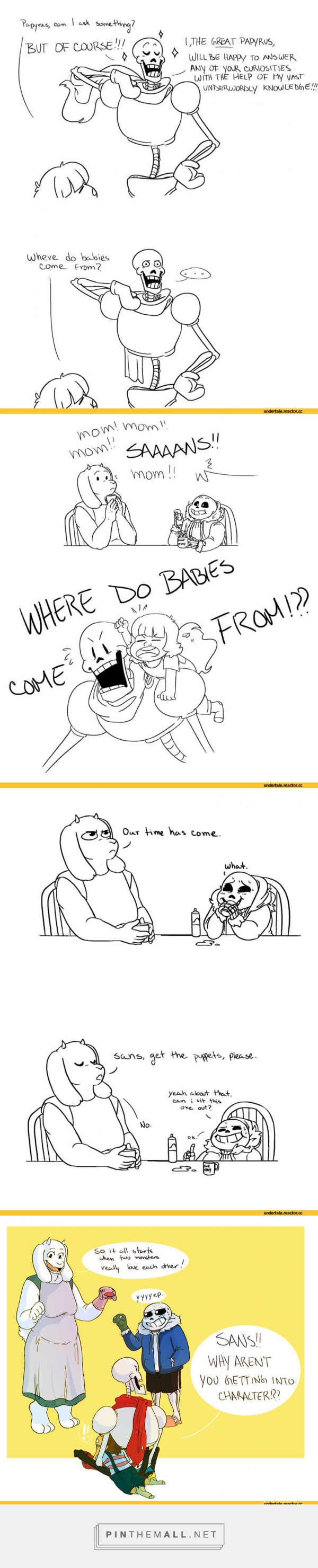 Undertale, Frisk, Toriel, Papyrus, Sans - created via https://pinthemall.net