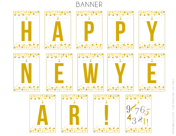 free printables happy new year banner see more party ideas at catchmypartycom freeprintables newyears banner